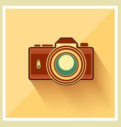 Dslr professional camera retro icon vector
