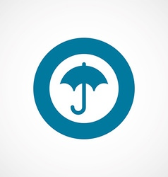 Umbrella bold blue border circle icon vector
