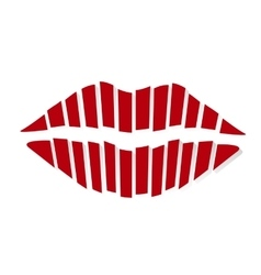 Red kiss vector