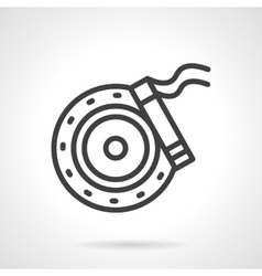 Brake disc simple line icon vector