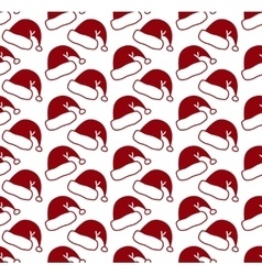 Santa claus hat seamless pattern vector image