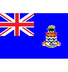 Flag of cayman islands vector image