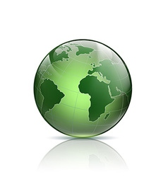 Green logo earth vector