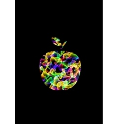 Abstract psychedelic apple vector image