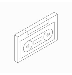 Plastic audio cassette icon isometric 3d style vector