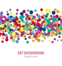 Colorful abstract dot background vector