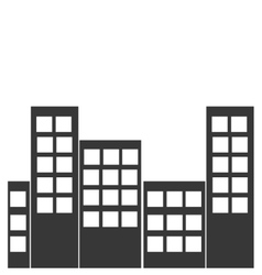Real estate design building icon flat and vector
