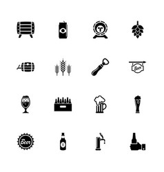 beer - flat icons vector image vector image