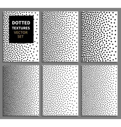 Black dots gradient vertical seamless background vector image