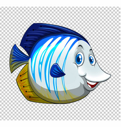blue fish on transparent background vector image
