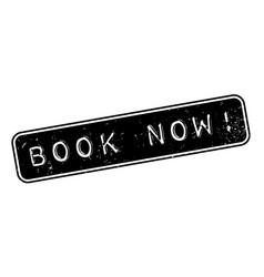 Book now rubber stamp vector