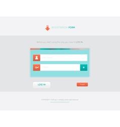 Bright registration form vector