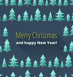 Christmas card with Christmas trees vector image vector image