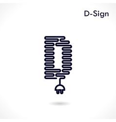 Creative d letter icon abstract logo design vector