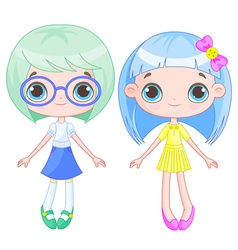 Cute girls vector