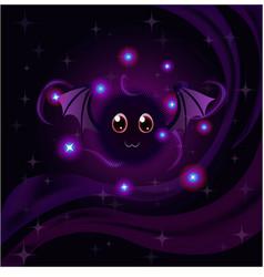 Cute magic bat vector