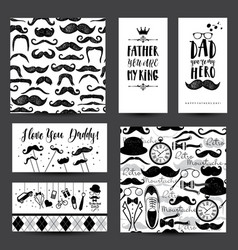 Father day invitation card in black and white vector