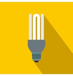 Fluorescence lamp icon flat style vector