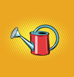 Garden watering can for plants vector