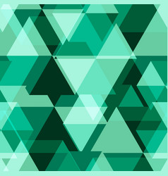 green geometry abstract seamless pattern vector image