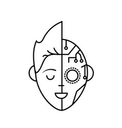 Line boy head in interface connection system vector