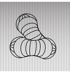 Peanut icon design vector