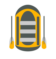 Raft icon tourism equipment vector