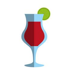 Refreshing liquor cocktail vector