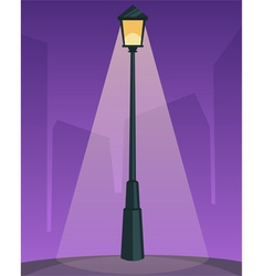 Retro Street Lamp vector image