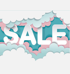 Sale banner template with cloud in candy style vector