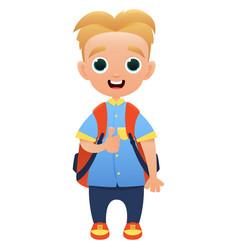 schoolchild cute cartoon character vector image vector image