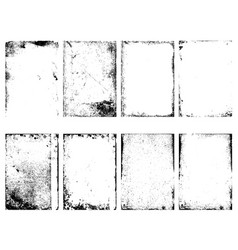 set of the grunge textures isolated on white vector image