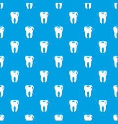 tooth pattern seamless blue vector image vector image