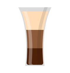 Whisky shot cup vector image