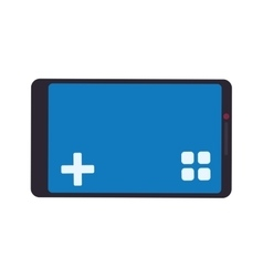 Control smartphone pixel video game play icon vector