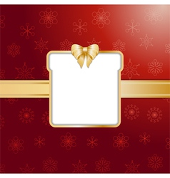 Red christmas present background and border vector