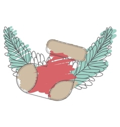 Christmas sock decoration vector