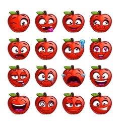 Funny cartoon apple character vector image