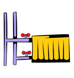 Radiator icon cartoon vector