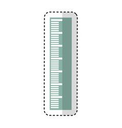 Rule school supply icon vector