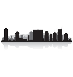 Nashville USA city skyline silhouette vector image