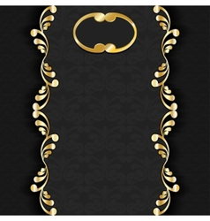 dark with gold vector image