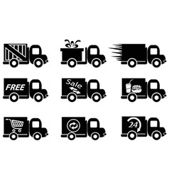 Delivery truck icons vector