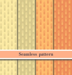 Seamless wheat pattern eps10 vector