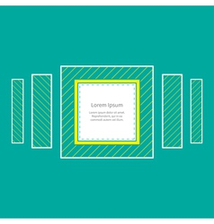 Square striped frame flat design vector