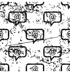 E-mail message pattern grunge monochrome vector