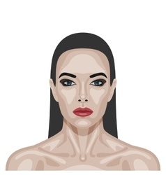 Fashion beauty brunette woman with perfect skin vector