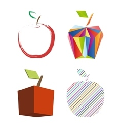 Abstract apple set vector