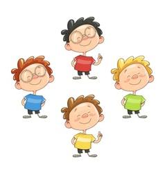 Cartoon smiling boy vector image
