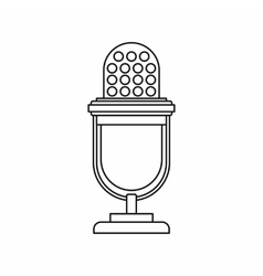 Retro microphone icon outline style vector